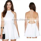 2016 new summer dress style Europe sexy white off shoulder backless A -line slim wholesale dress for women                                                                         Quality Choice