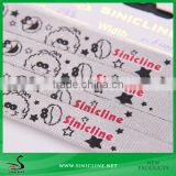 Sinicline Silver Satin Ribbon with Cute Pattern Print for Birthday Gift