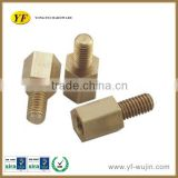 Cnc Turning Reasonable Price Brass Hex Bolt and Nut