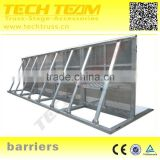Aluminum Folding Barriers With Gate A-BAR02 Use Road Or Concert Crowd Control Barrier