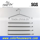 Chrome hook pvc coated metal hanger for towel
