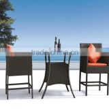Outdoor PE Rattan Wicker Bistro Table and Chairs Set JJB-02T,03C