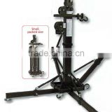 DJ booth stand professional tower crank design 200kg heavy duty speaker tower lift with wheel easy to set up
