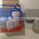Stargold HD universal Twin LNB/Single LNB/Quad LNB,Starcom universal twin LNB/Single LNB/Quad LNB