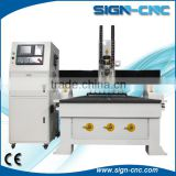 3 axis linear auto tool changer cnc router / line boring head door making cnc machine / woodworking cnc router ATC