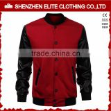 college baseball varsity jackets genuine leather sleeves