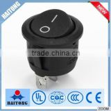 china supplier 3 pin black cover round rocker switch t85