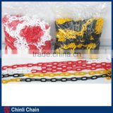 Outdoor Colorful Plastic Link Chain, Barricading Plastic Chain