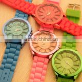 2013 fashion rainbow rubber strap watches men watch