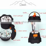 4 IN 1 Portable Crank Long range distance Spotlight Flashlight Camping Lantern For Outdoor