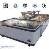 Auto defrost supermarket island freezer with LED light
