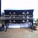 Indonesia Furniture - Black Moulin Nour Bombe Chest - Furniture Manufacture