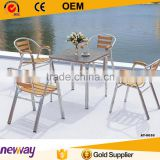 Outdoor garden WPC furniture dining set space-saving dining table and chair set                                                                         Quality Choice                                                     Most Popular