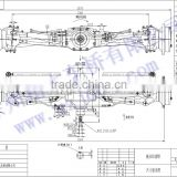 tractor drive axles manufacturing axle for tractor CLQ100 100 hoursepower of front and rear tractor axle