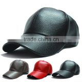 winter PU Leather Baseball Cap Biker Trucker outdoor Sports Hats For Men women hats and caps wholesale