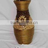 Natural willow dcorative vase rattan pot home decoration artificial flowers