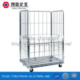 Direct factory of Zinc-plated foldable flexible application steel wire rolling storage cage