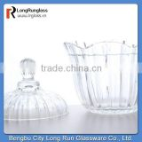LongRun 650ml hot new products for 2015 crystal biscuit nut food glass jar container machine glassware