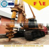Portable piling rig, Bored pile in CFA spiral machine, FAR250 Hydraulic rotary drill rig