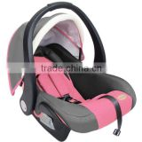 2015 new racing style fabric pink inflatable baby car seat