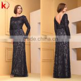 2015 New Arrival Fashion Long Sleeve Waist Belt Glitter Handmade Embroidery Crystal Beads Sexy Royal Blue Formal Dresses