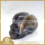 Natural Amethyst Quartz Crystal skull for sale with geode high quality good for art collection