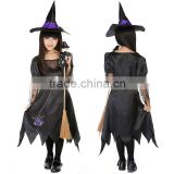 Wholesale Kids Girls Cosplay Costumes Halloween children witch magic suits party show suit children's princess dress clothes