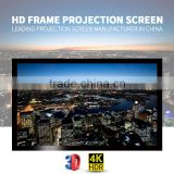 Wall mount 150 inch 16:9 flexible rear projection fixed frame projector screen for home theater