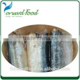 2015 new preserved food in can tin canned sardine fish in salt water