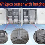 Good quality holding 19712 chicken eggs incubator and full automatic egg hatching machine made in China