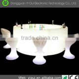 With competitive price New design ABS PE plastic CE/RoHS nightclub led Bar Chair hotel table
