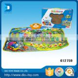 top selling products removable and washable QQ bear musical cheap baby play mats toys for kids