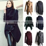 Women Lady Slim Long Wool Jacket Winter Warm Trench Coat Outwear Parka Cardigans