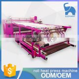 China manufacturer Sportswear textile oil based sublimation roll heat press machine