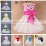 walson children clothes Korean fashion white color flower girl dress 3 year old girl dress