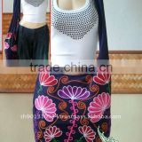 Thai Embroidered Shoulder bag Crossbody bag Shopping bag Hippie Hobo Top Zipper