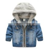 casual Children's clothing spring/autumn baby boy jeans coat Boy coat