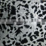 popular animal printed jersey knit fabric/velour/embroidered/korean fabric knitted fabric with foil