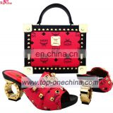 Latest Wholesale High Quality African Nigeria Party Shoes And Matching Bag Set