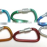 2015 novelty bulk carabiner hook with leather loop keyring holders wholesale