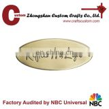 Custom brand metal logo plate metal label holder metal name tag