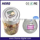 Digital transparent money saving jar custom coin bank for kids made in China