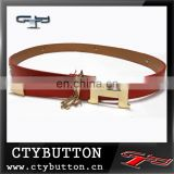 CTY065 H buckle leather belt for 2015 fashion ladies clothes