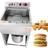 Electric 1-Tank Fryer With Cabinet / Chicken Fryer / Five Star Hotel Cooking Range
