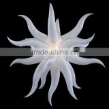 Custom high quality led star light inflatable ceiling hanging decoration for party bar club decoration