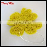Beautiful flower shape body bath scrubbers sponges,body cleaning tools