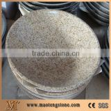 China G682 Yellow Granite Basins & Sinks/Sunset Gold/Rusty Yellow Granite Oval Wash Basins