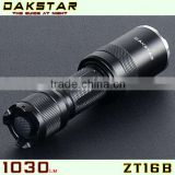 DAKSTAR ZT16B 1030LM CREE XML T6 18650 Aluminum rechargeable LED Highpower Focusing Torch