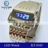 2014 new hot selling watch machine cat head stainless steel back LCD watch iron men watch