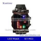 Wholesale High Quality Men's LED Black Rubber Band Wrist Watch